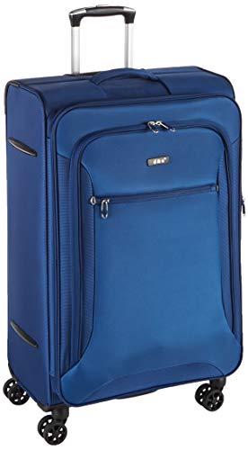 D&N Travel Line 6404 Equipaje de Mano, 78 cm, 100 Liters, Azul (Blau)