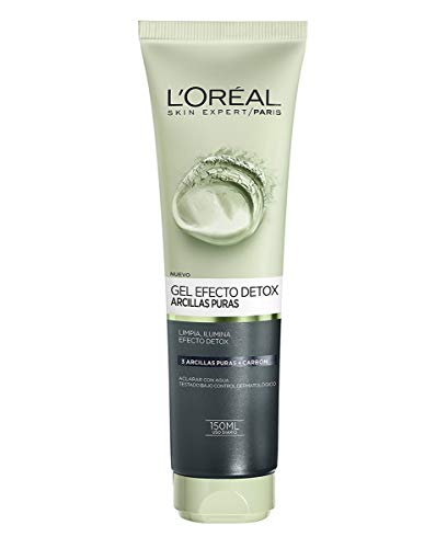 L'Oreal Paris Dermo Expertise - Arcillas puras gel limpiador detox, color negro - 150 ml
