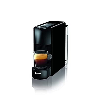 Nespresso BEC220BLK Essenza Mini Espresso Machine by Breville, Piano Black