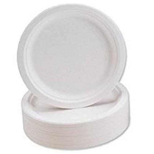 Súper Placa Rígida, 9 Pulgadas - Pack De 50 por Desechables Biodegradables Platos/Platos De La Cena