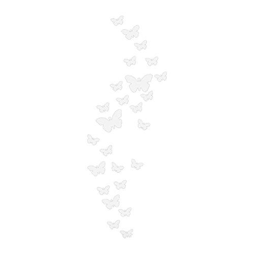 MagiDeal 25pcs/Lot Sticker Miroir Mural Papillon Autollant Acrylique Décoration Porte Mur Entrée Couloir pour Maison