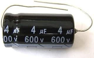 MIEC Qty 6 4UF 600V 105C Axial Electrolytic Capacitors