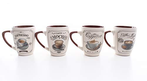 Crown Baccara Juego de tazas Porcelana NBCh 350ml 4 piezas   - BOHO WOOD 05