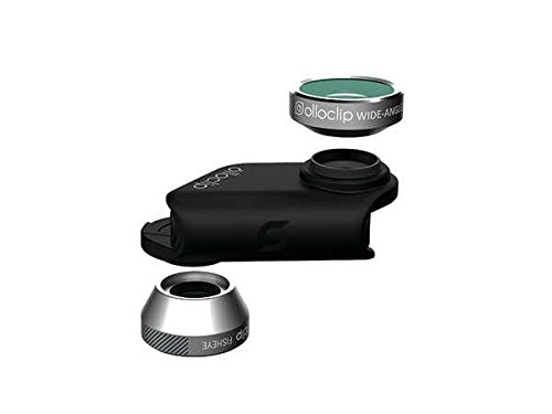 olloclip 4-IN-1 Lens for iPhone 6/6s and 6/6s Plus Silver Lens/Black Clip (Wide-Angle, Fisheye and Macro Lens)