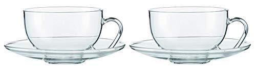Jenaer Glas Relax Teetasse mit Untertasse, Glas, farblos, 0,36 L
