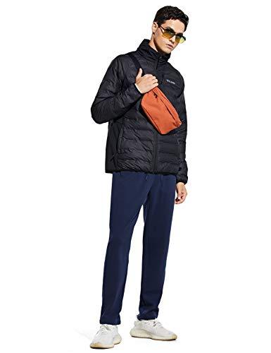 BALEAF Men's Warm Sherpa Lined Pants Winter Fleece Athletic Lounge Jogging Pants Open Bottom