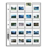 "Vue-All Archival 35mm Slide Pages Holds Twenty 2"" x 2"" Mounted Transparencies with Individual Write-On Tabs, Top Loading, Pack of 100"