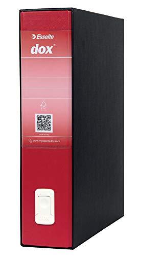 Leitz D26211 - Archivador de Palanca DOX con Caja Folio (28,5X35 cm) Color Negro, Rojo ✅