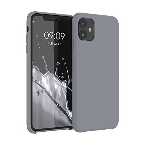 kwmobile Hülle kompatibel mit Apple iPhone 11 - Hülle Silikon gummiert - Handyhülle - Handy Hülle in Titanium Grey