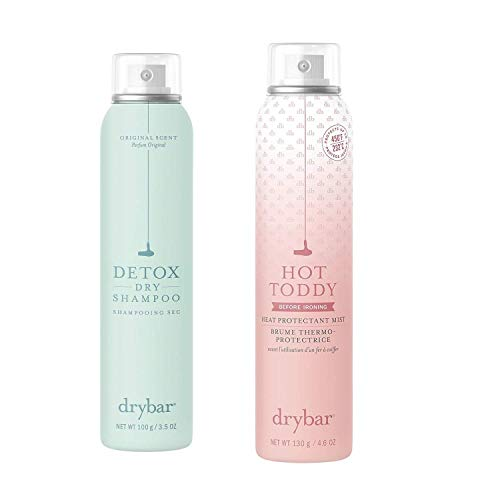Drybar Detox Dry Shampoo, Original Scent & Hot Toddy Heat Protectant Mist Set