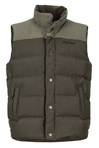 Marmot Fordham Men's Down Puffer Vest , Deep Olive, X-Large