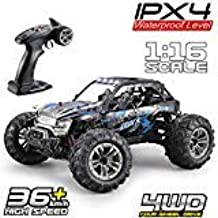 Fistone RC Truck 1/16 High Speed Racing Car , 24MPH 4WD Off-Road Waterproof Vehicle 2.4Ghz Radio Remote Control Monster Tr...