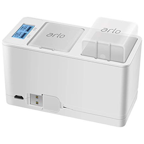 Feirsh Battery and Charger Station Gift for Arlo, Dual Rechargeable Batteries and Charging Station Compatible for Arlo Pro/Pro 2/Go Camera (No Batteries)