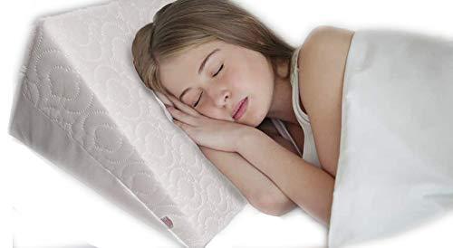 GAX bed wigkussen Multi Purpose - perfect voor bed en bank | verminderen pijn in de rug, snurken, zure reflux en ademhalingsproblemen - ideaal schuim voor slapen - ademende wasbare hoes