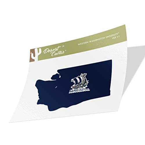 Western Washington University WWU Vikings NCAA Vinyl Decal Laptop Water Bottle Car Scrapbook (State Boarder Sticker)