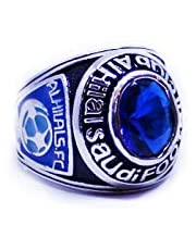 silver ring with the logo of Al Hilal Saudi Club size 7 American