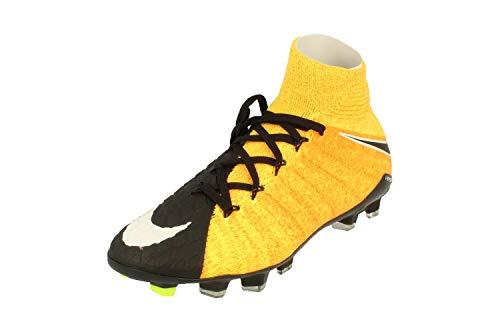 Nike Hypervenom Phantom III DF FG, Scarpe da Football, Nero, Arancione, 36 EU