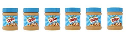 6x Skippy Burro di arachidi creamy Erdnussbutter Peanut Butter Streichcreme 340g