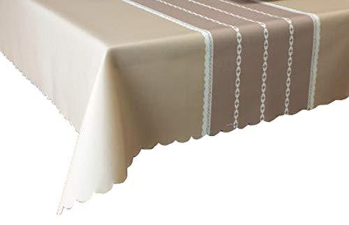 MOCHENG Nappe de Cuisine rectangulaire Motif Rayures, Kaki, 130X180cm