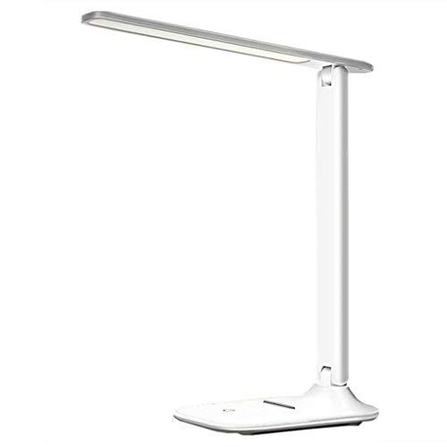 NARUJUBU Lampada da tavolo a LED regolabile Lampada da scrivania dimmerabile accattivante Lampada da lettura a risparmio energetico con porta di ricarica USB, 3 modalità di colore con 3 livelli di lum