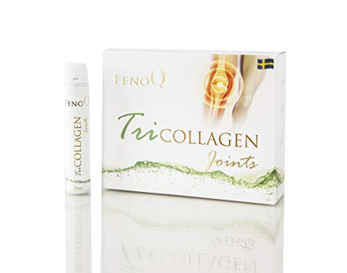 FenoQ TriCOLLAGEN Joints, Bottle has 10000 mg of Type 1&3 Fruit-Flavored Liquid Hydrolised Collagen - 14 Bottles (25 ml Each) for Stronger and Healthier Joints, Chondroitin, Glucosamine, MSM