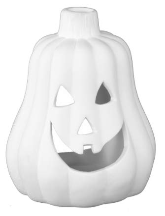 Little Jack-O-Lantern Tealight Candle Holder - Paint Your Own Hallo-Weeny...