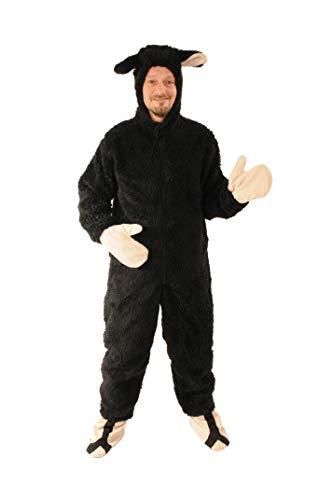 Schaf schwarz offen Einheitsgrösse L - XL Kostüm Fasching Karneval
