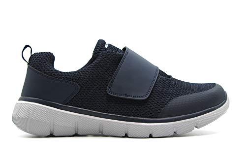 DOCTOR CUTILLAS - Zapato Deportivo Casual, con Cierre de Velcro, Suela de Goma Muy Flexible, Ideal para diabéticos, para: Hombre Color: Marino Talla:43