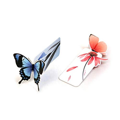 longyitrade 10pcs farfalla segnalibro graffetta cancelleria accessori per la lettura Modello casuale