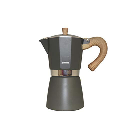 Gnali & Zani VEZ006/IND/GREY Espressokocher, Aluminium, grau
