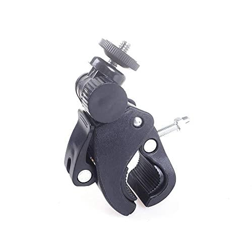Soporte de manillar de cámara de bicicleta 1/4 abrazadera de tornillo trípode de soporte de plástico para Xiaomi Gopro Hero 7 6 5 4 DV cámara accesorio negro