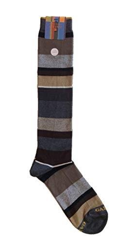 Gallo calze uomo righe multicolor in cotone e cashmere art. AP102855 colore sasso/panna taglia unica 40-45