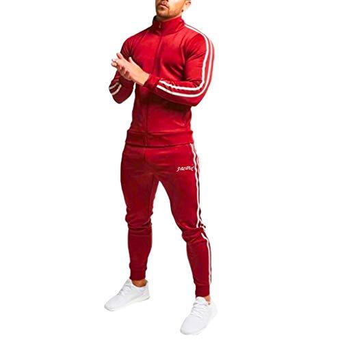 Giacca Outwear Maglioni Uomo Cotone Maglietta Camicetta Canottiera Sportiva Cappotto Giacca Maglioncino Sportivo Canotterie Poncho Antipioggia Poloshirt Canotte (XL,6- Rosso)