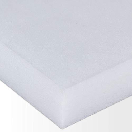 Polyester-Dämmvlies-Matte/Stärke 50mm / selbstklebend - RG: ca. 30kg/m³ - weiß