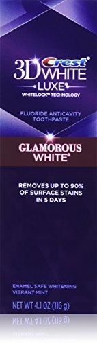 2x 116g - CREST 3D White (VIBRANT MINT) GLAMOROUS WHITE - Fluoride anticavity toothpaste aus USA