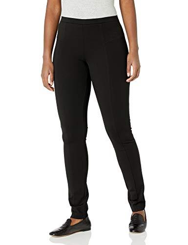 NIC+ZOE Women's Perfect Ponte Pant, Black Onyx, X-Small