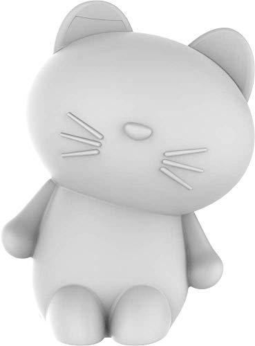 Lumin'us Bigben - Altavoz inalámbrico luminoso con diseño de gato, color blanco