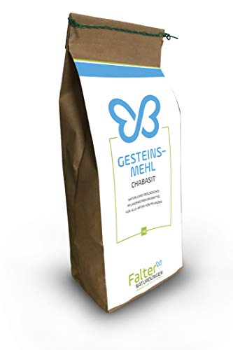 Falter Gesteinsmehl - Chabasit - Beste Wirkung gegen Buchsbaumzünsler und Schadinsekten - hochwertiges Pflanzenstärkungsmittel für Grünpflanzen & Ziergehölzer - Qualitätsprodukt aus Bayern - 1kg