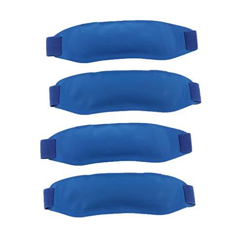 Bonarty 4x Fiebre Gel de Hielo de Enfriamiento Almohadillas Frío Frío Envuelve Bolsas de Enfriamiento Físico para Niños