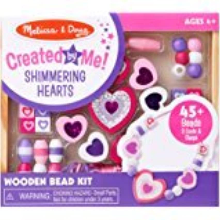 Created by Me Shimmering Hearts Wooden Bead Kit