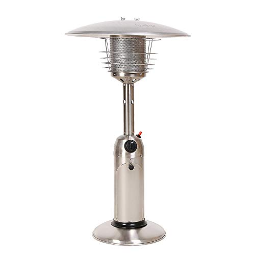 LEGACY HEATING Table Top Gas Patio Heater (Stainless Steel)