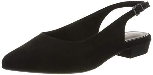 Tamaris 1-1-29403-24, Scarpe con Cinturino alla Caviglia Donna, Nero (Black Suede 004), 37 EU