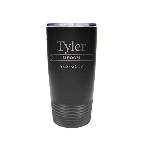 DIY 20 oz Stainless Steel Tumbler  Do It Yourself Steel Tumbler  Blank Tumbler  Matte Black  Groomesmen  Groom  Wedding  Camping Trip
