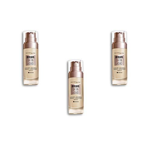 Dream Satin Liquid Foundation SPF13-30 Sand, Packung mit 3 Stück (3 x 30 ml)