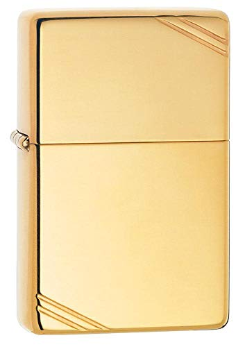 Zippo Vintage High Polish Brass - Mechero