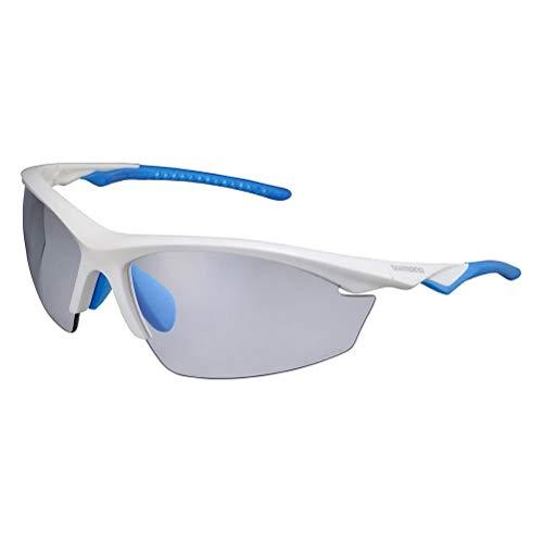SHIMANO EQX2PH Sonnenbrille Radfahren, Weiß, Einheitsgröße