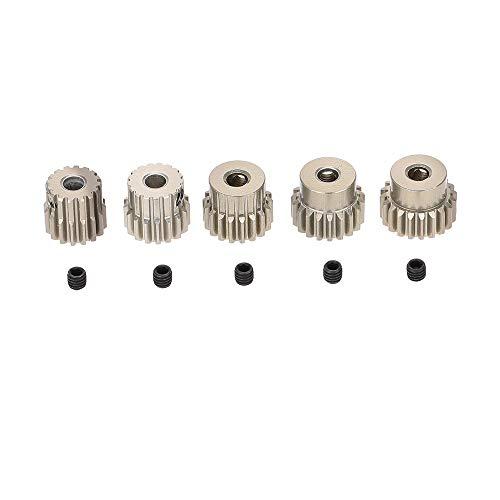 without brand DZF-Pinion Gear, Ingranaggio Motore in Alluminio Originale 7075 48DP 3.175mm 16T 17T 18T 19T 20T pignone for 1/10 RC Auto Motore Spazzolato/brushless
