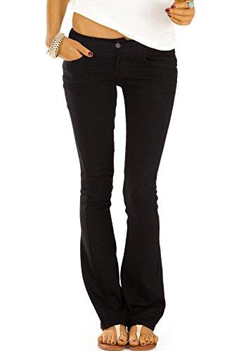 bestyledberlin Damen Boot-Cut Jeans, Schlaghosen, Ausgestellte Hüftjeans j74kw 34/XS