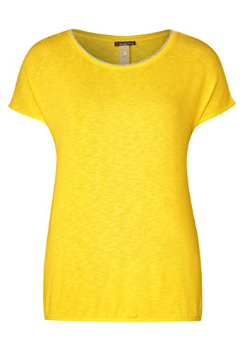 Street One Damen Edona T-Shirt, Shiny Yellow, 42