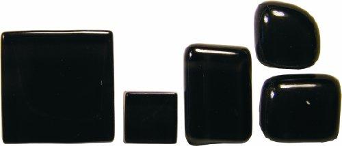 Bastelmaxi Glasmosaik Soft Glas 2 x 2 cm, ca. 55-Stück, 200g, schwarz